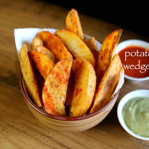 potato wedges recipe   deep fried and baked potato wedges