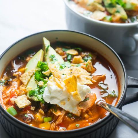Pressure Cooker Chicken Tortilla Soup