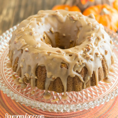 Pumpkin Pecan Bundt Cake #SundaySupper