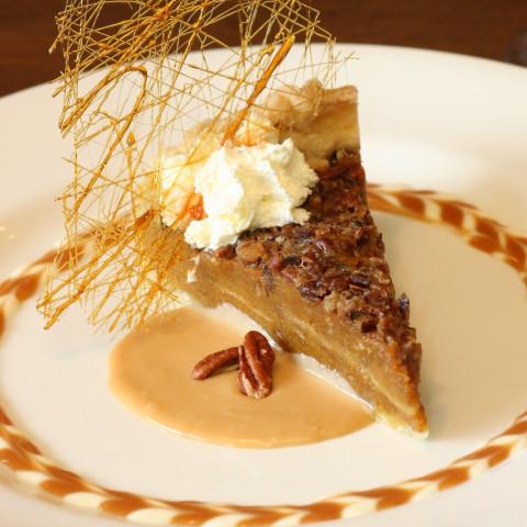 Pumpkin-Pecan Pie with Whiskey-Butter Sauce