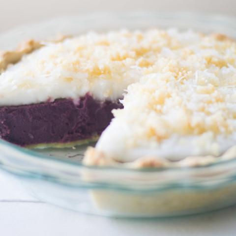 Purple Sweet Potato Haupia Pie