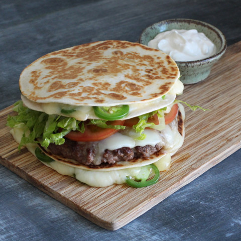Quesadilla Bun Burger
