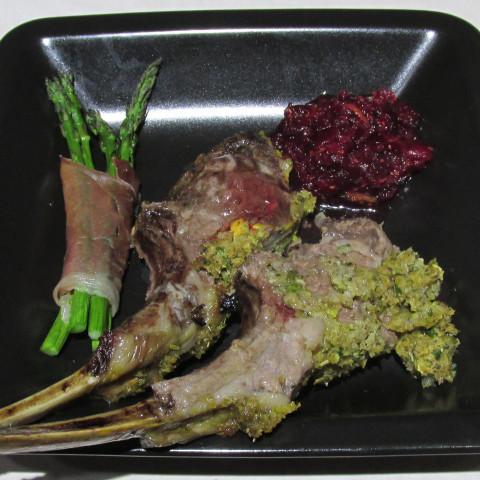Rack of Lamb, herb crusted