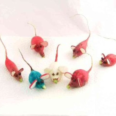 "Radish ""Mice"" Decorations"