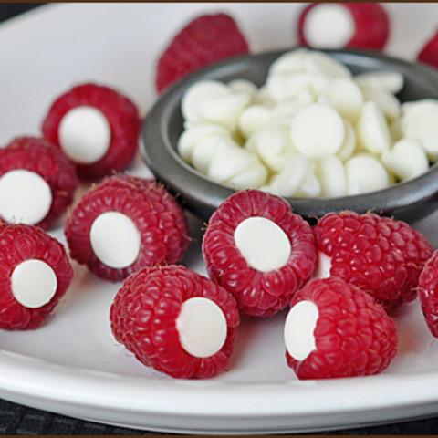 Raspberries with Chocolate Inside Them