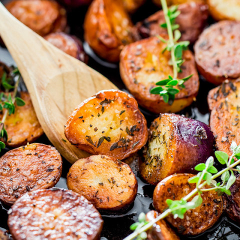 Perfect Thyme Skillet Potatoes