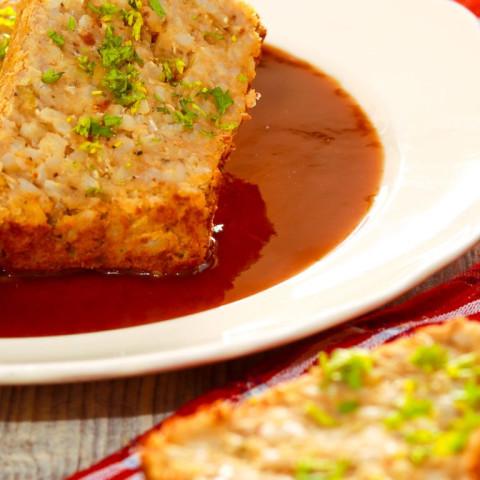 Christmas Meatloaf.Red Lentil Christmas Meatloaf