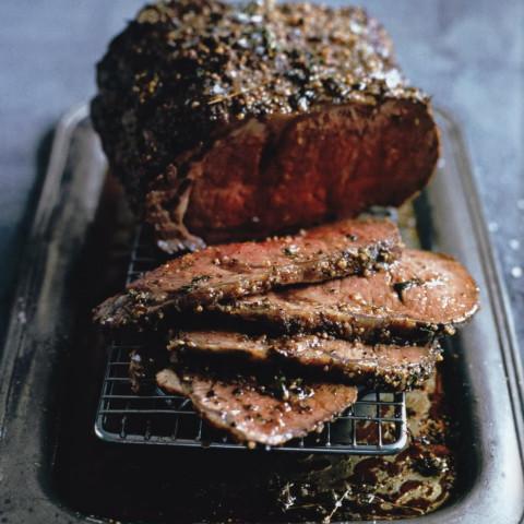 Roast beef - mustard + black pepper