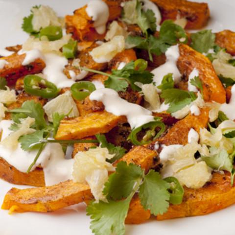 Roast Vegetables with Tahini Dressing