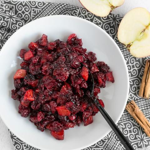 Roasted Apple Cranberry Relish