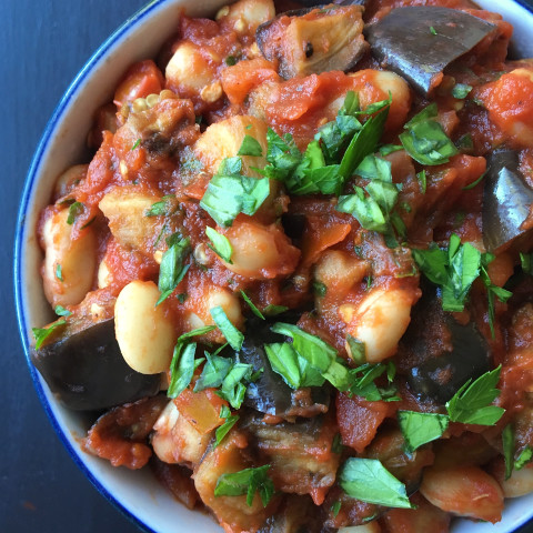Roasted Eggplant with Simple Tomato Sauce