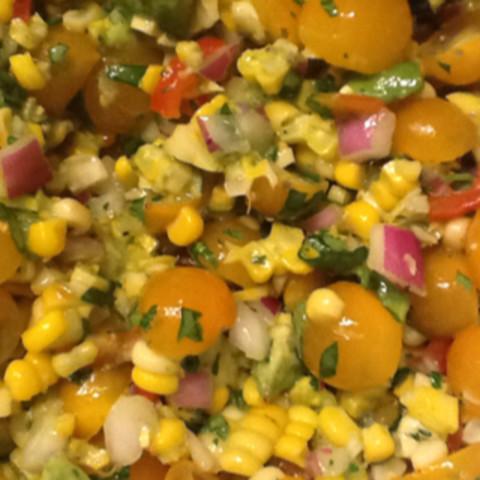 Salad with Corn, Avocado and Tomato