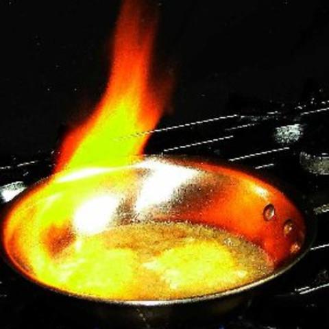 Saganaki (Greek Flaming Cheese) (Low Carb Version)