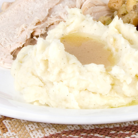 Sage-Roasted Turkey with Caramelized Onions And Sage Gravy