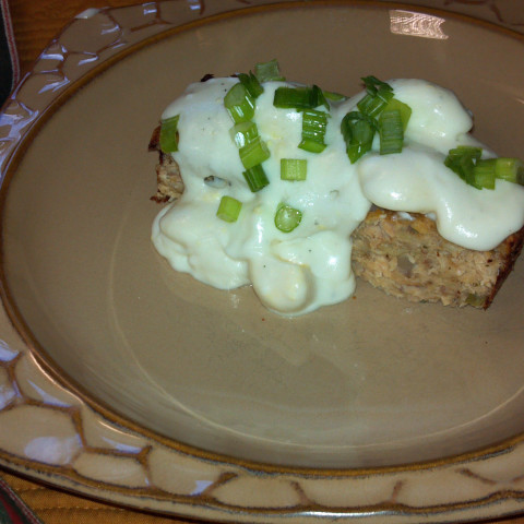 Salmon Loaf with Egg Sauce