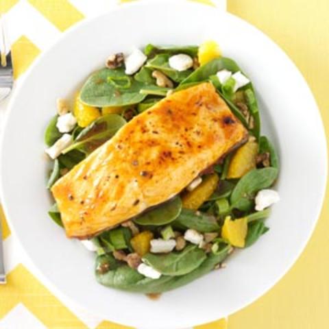 Salmon Spinach Salad Recipe