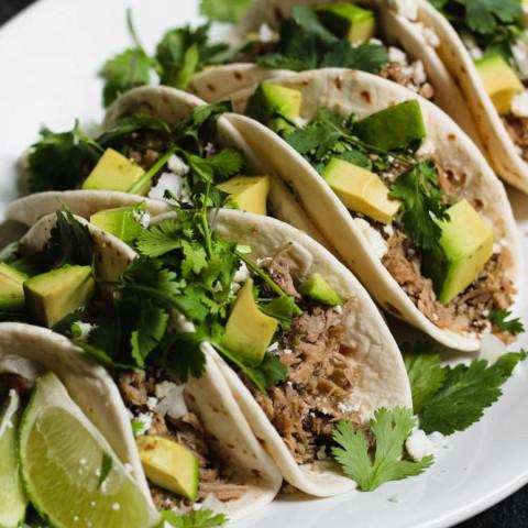 Salsa Verde Shredded Pork Tacos