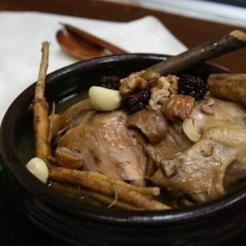 Samgyetang (Baby Chicken and Ginseng Soup)