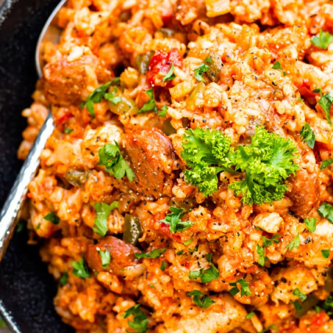 Sausage and Chicken Cajun Jambalaya