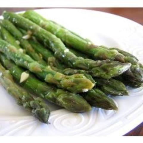 Saut�ed Garlic Asparagus