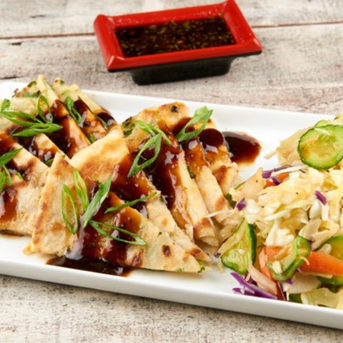Savory Chinese Scallion Pancakes With Soy-Ginger Vinaigrette and Cabbage