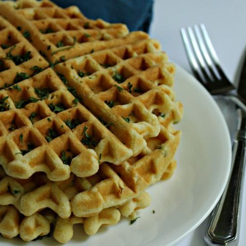 Savory Cornmeal Waffles