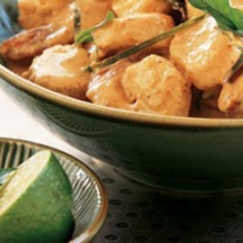 Scallops and prawns chu chee
