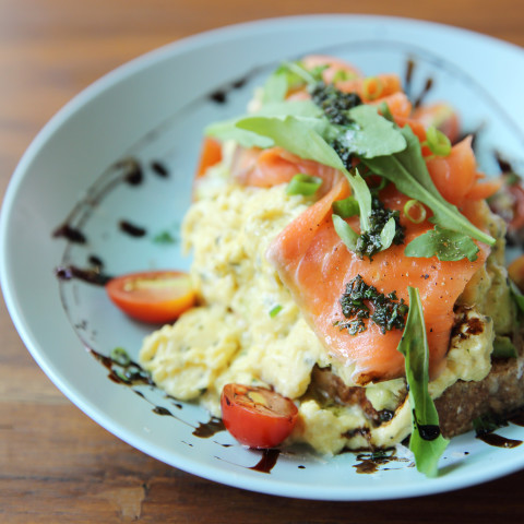 Scrambled Eggs with Lox (Smoked Salmon)