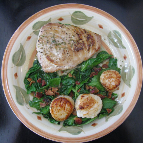 Sea Scallops with Fresh Vegetables