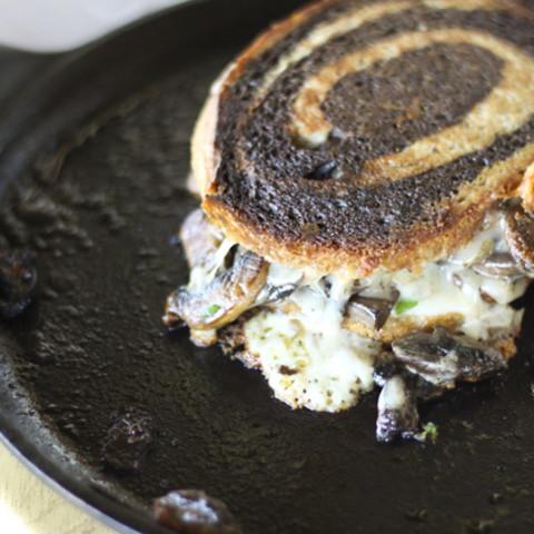 Seared Mushrooms and a Mushroom Melt