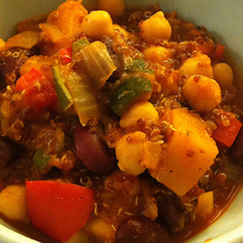Seasonal: Spicy Bean and Quinoa Chili with Butternut Squash
