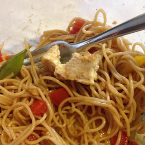 Seasoned Tofu Steaks & Vegetable Stir-Fry with Ginger Sauce