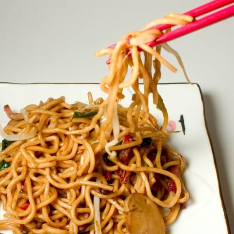 calories in pork lo mein