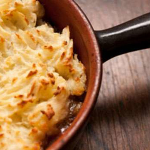 Shepherd's Pie Served with Pan-roasted Carrots
