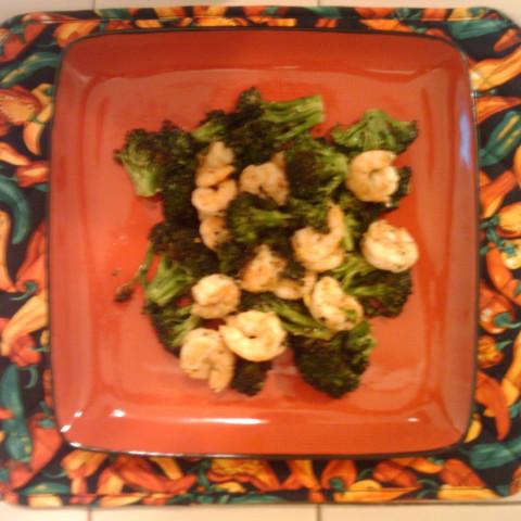 Shrimp- Roasted Broccoli with Shrimp