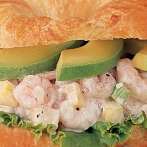 Shrimp Salad On Croissant Sandwich Z