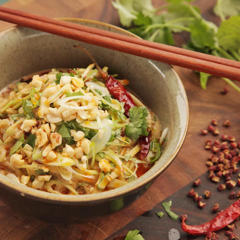 Sichuan Shirataki Sesame Noodle Salad With Cucumber, Sichuan Peppercorn, Ch
