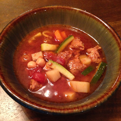 Slow-Cooked Italian Sausage-Vegetable Soup