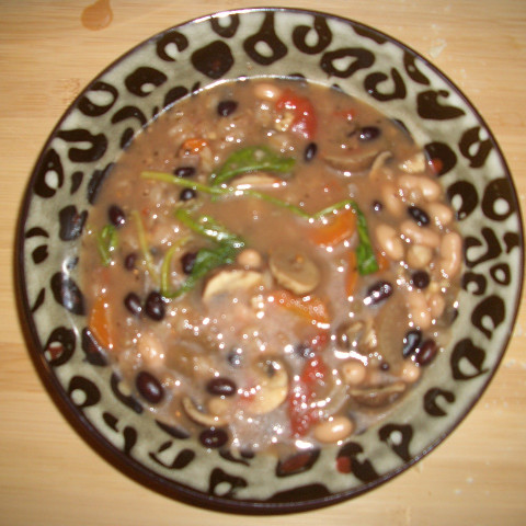 Slow-Cooker Bean and Barley Soup