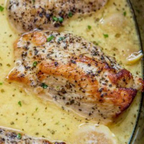 Slow Cooker Creamy Lemon Chicken