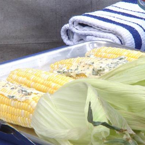 Smoked Corn with Herb Butter