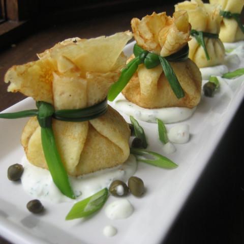 Smoked Salmon and Cream Cheese Beggar's Purse