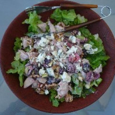 Smoked Turkey Salad with Bing Cherries And Hazelnuts