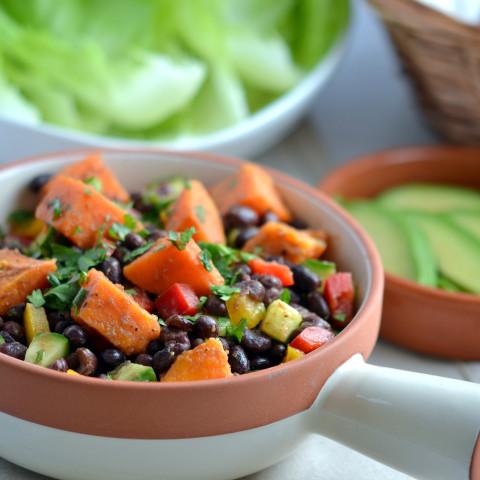Smoky Sweet Potato and Black Bean Salad