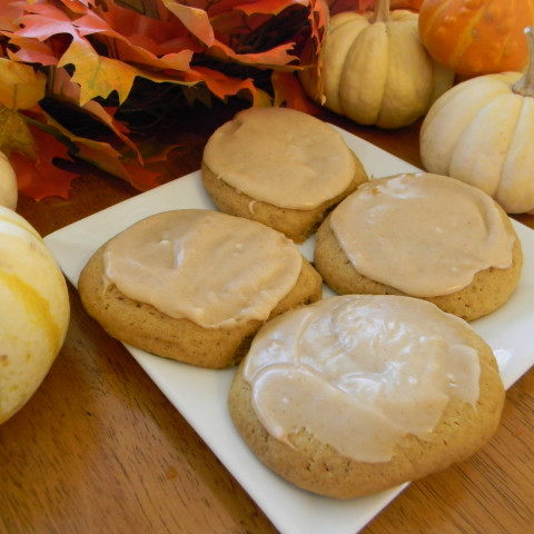 Soft Ginger-Pumpkin Cookies with Browned Butter Frosting