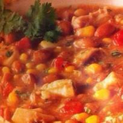 Southwestern Bean Stew Over Polenta (1+)