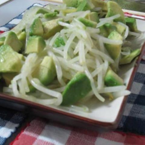 Soya Sprouts Avocado Salad