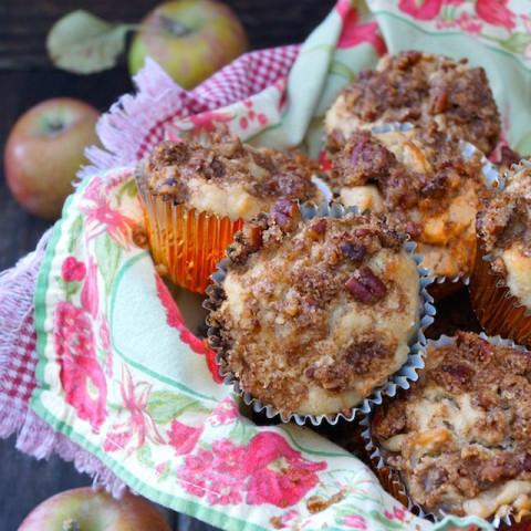 Spiced Buttermilk Roasted Apple Muffin Recipe