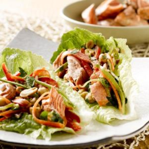 Spicy Alaska Salmon Wraps