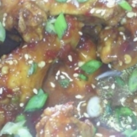 Asian style wings